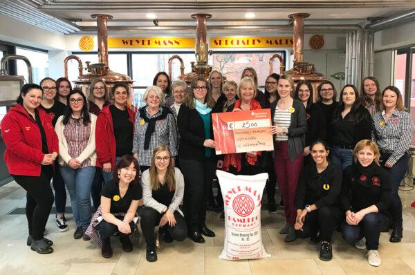 Weyermann-Frauen brauen am Weltfrauentag 2020 - Scheckübergabe