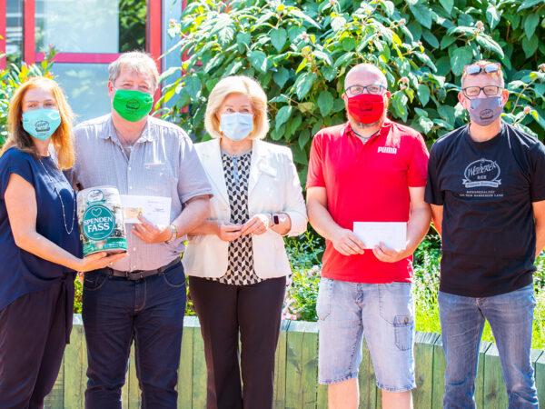 Spendenübergabe Weiherer Freibier-Aktion