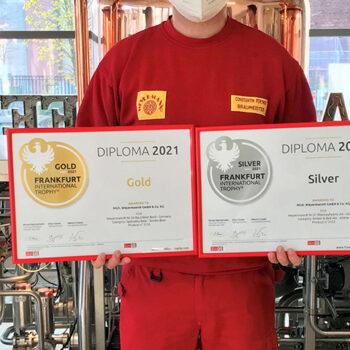 Gold und Silber für die Weyermann® Braumanufaktur